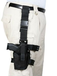 Black Deluxe Drop Leg Adjustable Tactical Holster Rothco 10752