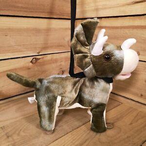 Xmas Gift Musical singing Walking Animated 30cm Dinosaur Triceratops on lead