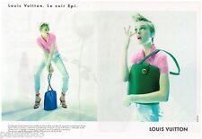 PUBLICITE ADVERTISING 095  1997  LOUIS VUITTON collection sacs LE CUIR EPI ( 2p)