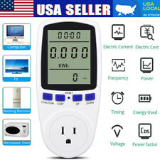 Electricity Usage Monitor Plug Power Watt Voltage Amps Meter Energy Saving 8Mode