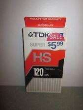 TDK Super Avilyn HS T-120 Blank VHS