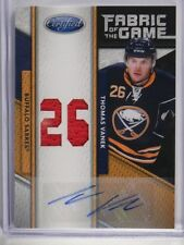 11-12 Certified Fabric of Game FOTG Thomas Vanek auto autograph jersey #D14/25 *