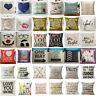 18inch Cotton Linen Square Home Decor Throw Pillow Case Sofa Waist Cushion Cover