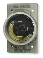 Hubbellock Hbl20418 30/20A Flanged Locking Inlet 3P 4W 600Vac/250Vdc