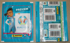 PANINI EURO 2020 PREVIEW Tüte VERTICAL packet DOUBLE BARCODE + CODE NUMMERIERT