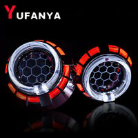 2.5'' Bixenon HID Projector Lens Honeycomb Dual LED Angel Eye Headlight Retrofit
