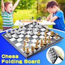 Premium Schach 3 in 1 Reiseschach Set Falten Schachbrett Magnetisch Schachspiel