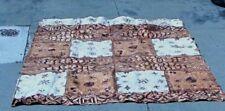LARGE HAND-PAINTED POLYNESIAN TAPA CLOTH TONGA