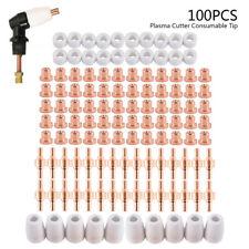 100pcs Consumables Nozzle Electrode Cups Tips Set For Pt31 Lg40 Plasma Cutter Us