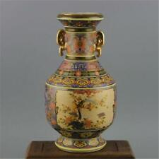 Antique Porcelain colour enamels QING YONGZHENG Flowr Bird Gold dynasty Vase