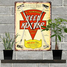 1930 Keen Kutter Axes Metal Sign Advertising Ad Repro 9x12