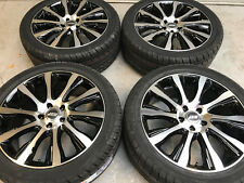 "20"" TURBINE BLACK/MACHINED ALLOY WHEELS+TYRES TO VW T5 T6 SET OF 4"