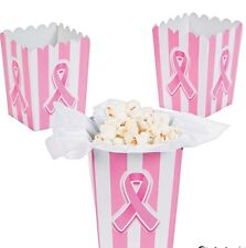 Mini Pink Ribbon Popcorn/Candy/Gift Boxes Nwt One Package Of 12 Breast Cancer