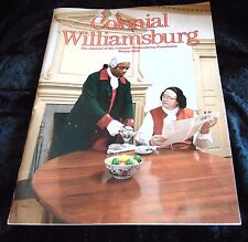 Journal of Colonial Williamsburg Winter 2012 historical colonial Americana educ.