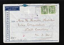 Germany Occupied Netherlands 1941 Frankfort Censor Auxiliary Luchtdienst 7v