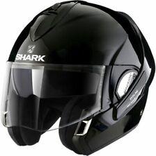 SHARK EVOLINE 3 FUSION GLOSS BLACK BLK MOTORCYCLE HELMET - MEDIUM