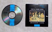 """CD AUDIO/ ROMANCE VARIÉTÉS """"C'EST LE TEMPS TANGO"""" CD COMPILATION CARDSLEEVE 1989"""