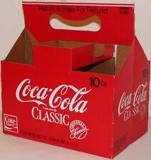 Vintage soda pop bottle carton COCA COLA CLASSIC unused new old stock n-mint+