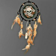 Skull LED Traumfänger, Skull Dreamcatcher,Windspiel, Fensterdekoration, Wanddeko