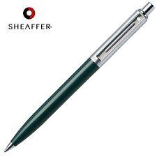 SHEAFFER Sentinel BLACK Refill Ballpoint Ball Pen Green & Chrome Barrel GIFT BOX