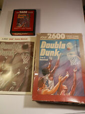Atari 2600/7800 RARE PAL Cartouche de jeu double Dunk avec boite et manuel