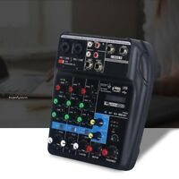 Mini USB Audio Mixer Amplifier Amp Bluetooth Board 48V Phantom Power 4 Channels