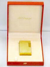 S.T. Dupont Feuerzeug Ligne 2 Diamond Gold Lighter aus dem 70er Jahre