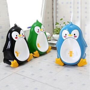 8M to 6Y Baby Potty Penguin Children's Toilet Urinal-Boy Stand Hook Pee Trainers