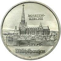 Gedenkmünze DDR - 5 Mark 1989 A - Mühlhausen - Marienkirche - Stempelglanz UNC