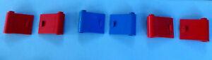 *LEGO* VINTAGE 3x pairs  ASSORT/ DOORS 24mm x 22mm Blue,Red COMBINE POSTAGE