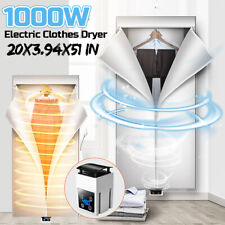 1000W Electric Clothes Dryer Rack Foldable Timing Heater Machine Home Wardrobe