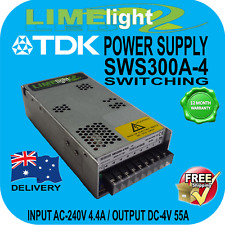 LED DRIVER POWER SUPPLY TDK SWS300A4 REPLACEMENT AUS 240VAC 4VDC 55AMP
