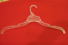 """150 17"""" Adult Retail Plastic Clothes Hangers for Shirts, Dresses - WHITE"""