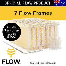 FLOW FRAMES 7 pcs Honey Tubes w Tool for Flow Hive Super Classic Beehive