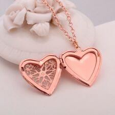 Herz Anhänger Medaillon Foto zum öffnen Gold Amulett Talisman Medallion Anhänger