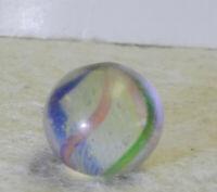 #12955m Small Vintage German Handmade Latticino Swirl Marble .54 Inches