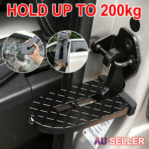 Car Door Hook Step Foot Pedal Ladder Folding Latch Hook For Jeep SUV Truck Roof