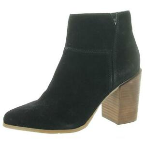 Nine West Womens Kirby Black Suede Ankle Boots Shoes 8.5 Medium (B,M) BHFO 0341
