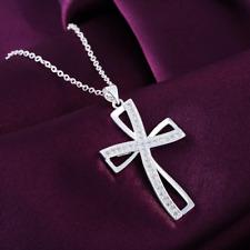 Halskette Zirkonia Kreuz Anhänger 925 Sterling Silber Geschenk