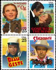 1990 25c Classic Films, The Wizard of Oz, Block of 4 Scott 2445-48 Mint F/VF NH