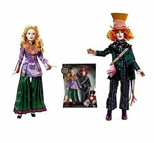 Disney Alice Through the Looking Glass Alice & Mad Hatter Dolls 2-Doll Set NEW