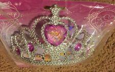 NIP Disney Princess Tiara Pink Gems Pretend Dress Up Costume Headband Plastic