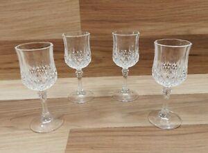 Set of 4 Cristal d'Arques LONGCHAMP Small Sherry / Port Glasses