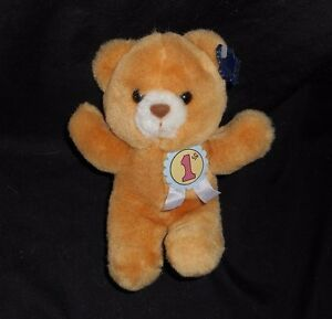 "8"" VINTAGE 1986 APPLAUSE BABY BEARY BEST TEDDY BEAR STUFFED ANIMAL PLUSH TOY"