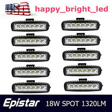 10X 6inch 18W LED Work Light Bar Spot Off-road Driving 4WD LAMP ATV UTE Truck