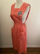 Vintage 60s Nurse Uniform Apron Dress Hospital Auxillary Badge Halloween