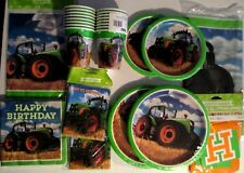 TRACTOR TIME John Deere Style Birthday Party Supply SUPER KIT w/Bags & Invites