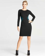 Ann Taylor Petite 0P (XSP) Black Colorblock Intersection Knit Dress $139.00 NWT