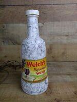 Vintage Welch's Refreshment Wine Bottle Hazel Atlas Drizzle Milk Glass 1955