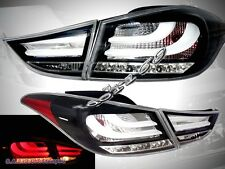 11 12 13 ELANTRA BLACK L.E.D. TAIL LIGHTS NEW PAIR BMW STYLE (4 PCS)